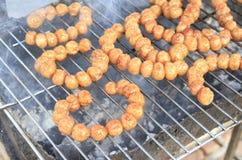 泰国烹调东部香肠 库存图片