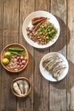 泰国烹调nam prik或辣椒酱混合 免版税库存照片