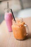 泰国牛奶茶,泰国的查家 库存图片