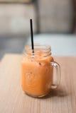 泰国牛奶茶,泰国的查家 免版税库存照片