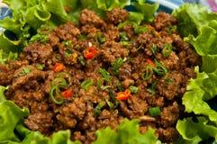 泰国牛肉地面的样式 免版税库存图片