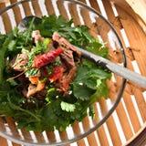 泰国牛肉的沙拉 免版税库存图片
