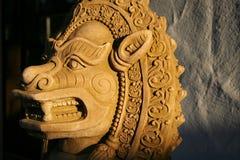 泰国狮子的雕象 库存图片