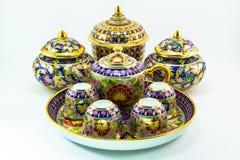 泰国瓷瓦器 免版税库存图片