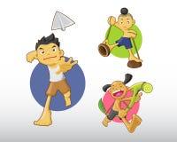泰国男孩例证 免版税图库摄影