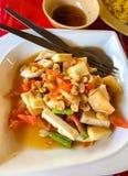 泰国番木瓜沙拉是泰国人主要食物,它是非常普遍和可口热的食物 亦称索马里兰胃 免版税图库摄影