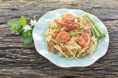 泰国番木瓜沙拉 库存图片