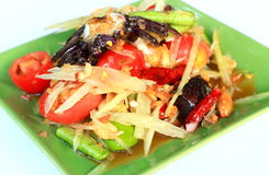 泰国番木瓜沙拉 库存照片