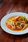 泰国番木瓜的沙拉 库存照片