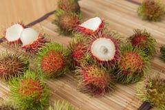 从泰国的亚洲果子红毛丹 库存图片