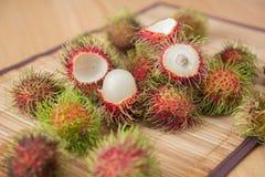 从泰国的亚洲果子红毛丹 库存照片