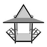 泰国的亭子,眺望台,休息区传染媒介例证 皇族释放例证