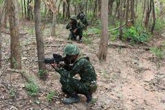泰国的军队 库存照片