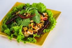 泰国的加工好的沙拉虾 免版税图库摄影