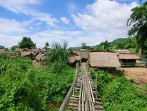 泰国的北部的部族村庄 库存照片