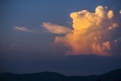 从泰国的南部的暮色云彩 免版税库存图片