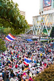 泰国的反对政府腐败的抗议人。 图库摄影