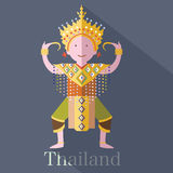 泰国的古典泰国声调 免版税库存照片
