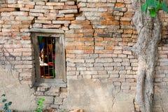 泰国的古庙的窗口 免版税图库摄影