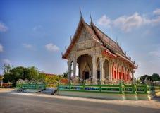 从泰国的地方寺庙场面 库存照片