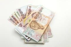 泰国的堆1000泰铢钞票 库存照片
