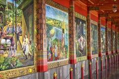 泰国的壁画 免版税库存图片