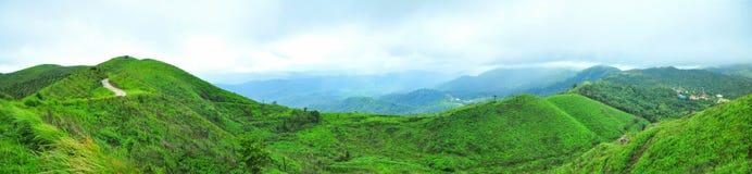 泰国的多山北碧府的风景 库存照片