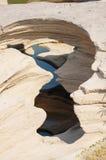 泰国的大峡谷和湄公河是名字山姆帕纳Bok (三千个孔)在乌汶叻差他尼泰国 免版税库存图片