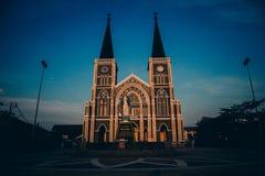 泰国的大教堂 库存图片
