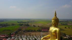 泰国的大菩萨,从天空寄生虫的空中场面飞行下来 股票视频