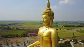 泰国的大菩萨,从天空寄生虫的空中场面飞行  影视素材