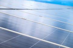 从泰国的太阳电池板清洁能源 库存图片