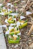 泰国的奉献物,宗教 免版税库存照片