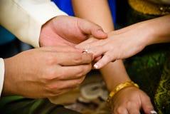 泰国的婚姻 免版税库存照片
