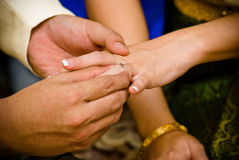 泰国的婚姻 免版税图库摄影