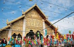 泰国的寺庙市场 图库摄影