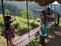 泰国的小山部落 库存图片