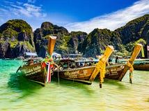 泰国的小船 库存照片