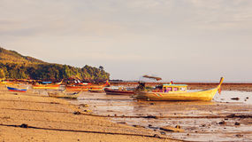 泰国的小船 免版税库存照片