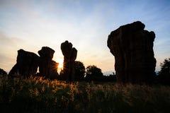 泰国的巨石阵chaiyaphum的 免版税库存照片