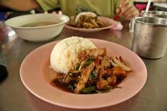 泰国的快餐 图库摄影