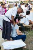 泰国的按摩 免版税图库摄影