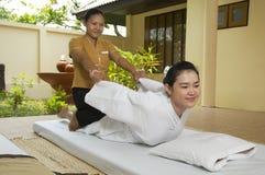 泰国的按摩 免版税库存图片