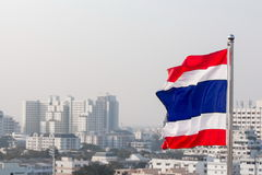 泰国的旗子。 免版税库存照片