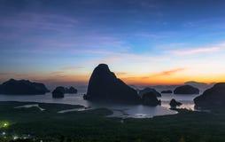 泰国的未看见的海岛 库存照片