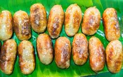 从泰国的格栅香肠 库存图片