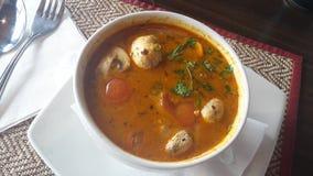 泰国的汤 免版税库存照片