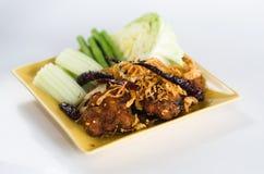 泰国的油煎的辣猪 图库摄影