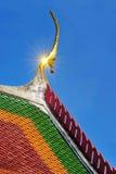 泰国的泰国寺庙屋顶 免版税库存照片