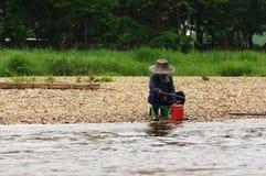 泰国的渔夫 库存图片